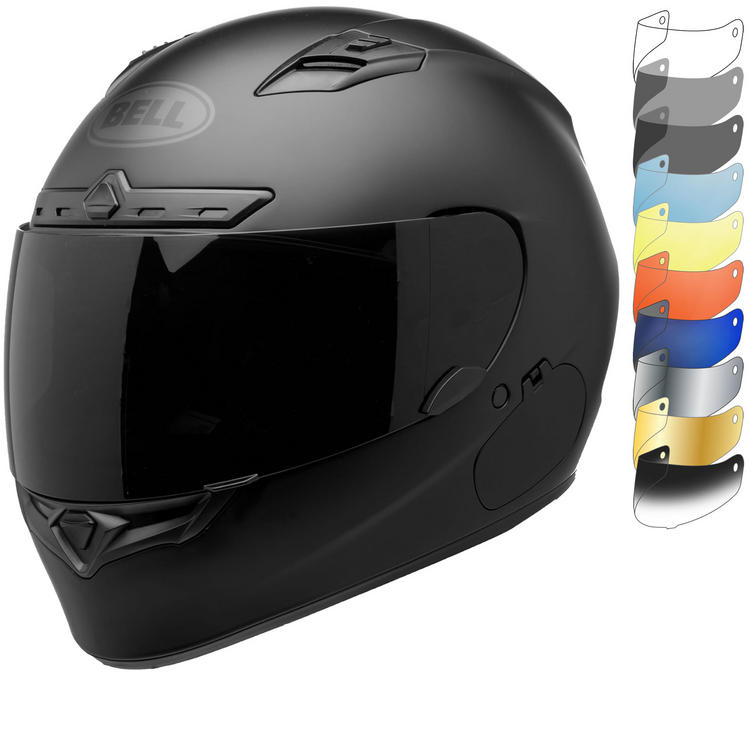 Bell Qualifier DLX Blackout Motorcycle Helmet & Visor