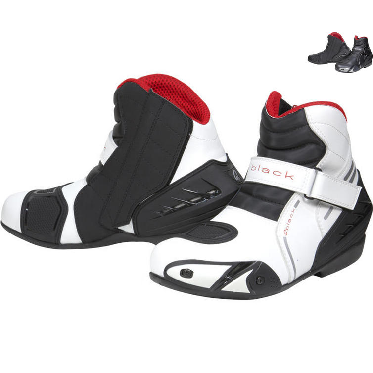 Black Circuit Motorcycle Boots