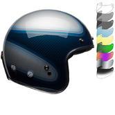 Bell Custom 500 Carbon RSD Jager Deluxe Open Face Motorcycle Helmet & Visor