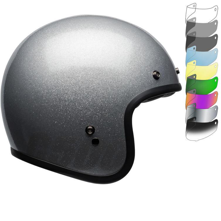 Bell Custom 500 Deluxe Open Face Motorcycle Helmet & Visor