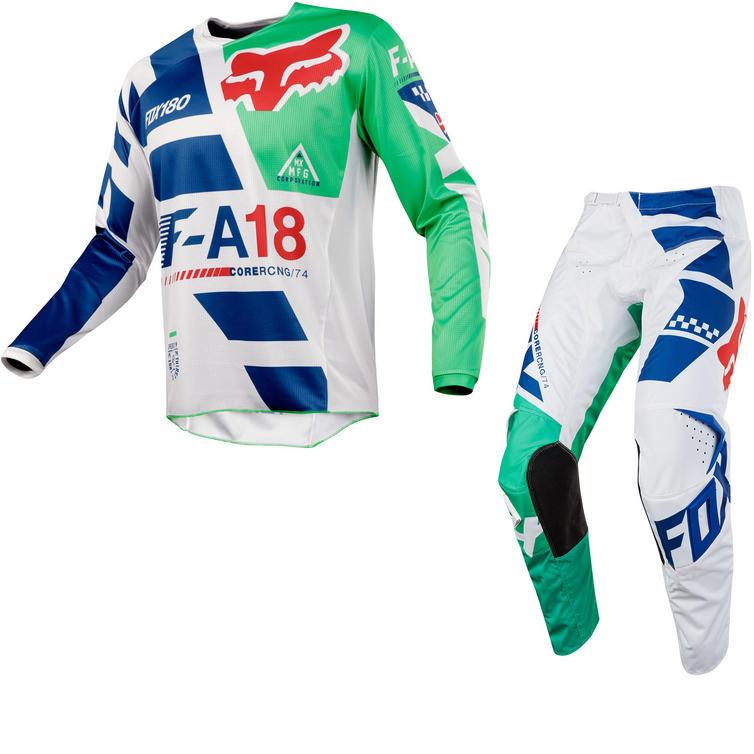 Fox Racing 180 Sayak Motocross Jersey & Pants Green Kit