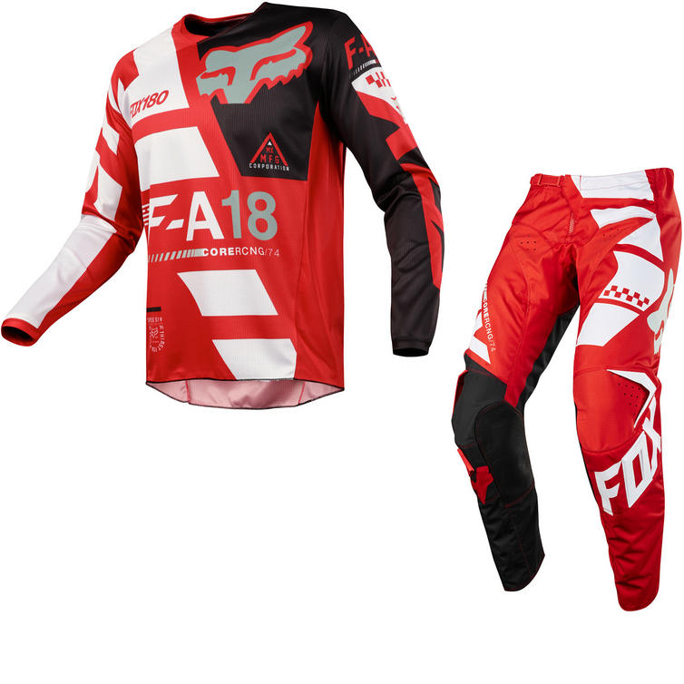 Fox Racing 180 Sayak Motocross Jersey & Pants Red Kit