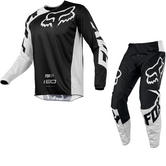 Fox Racing 180 Race Motocross Jersey & Pants Black Kit