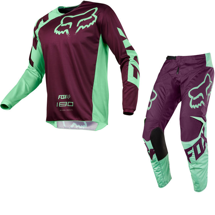 Fox Racing 180 Race Motocross Jersey & Pants Green Kit