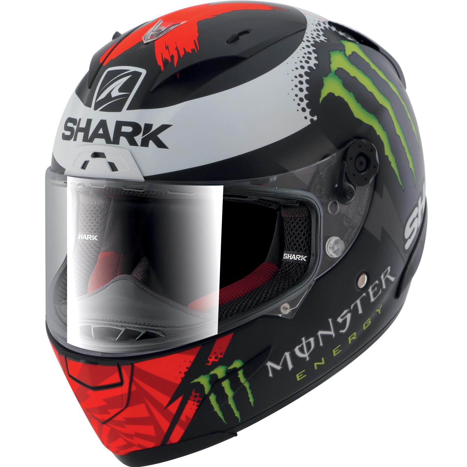 feae8beee6cd1 Shark Race-R Pro Lorenzo Monster Motorbike Helmet   Visor Full Face ...
