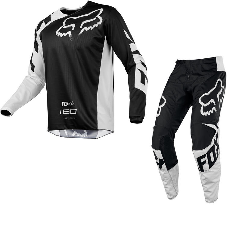 Fox Racing Youth 180 Race Motocross Jersey & Pants Black Kit