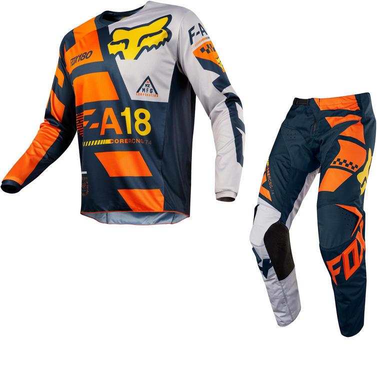Fox Racing Peewee 180 Sayak Kids Motocross Jersey & Pants Orange Kit