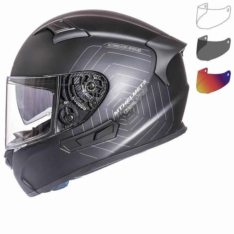 MT KRE SV Solid Motorcycle Helmet & Visor