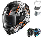Shark Spartan Carbon Daksha Motorcycle Helmet & Visor