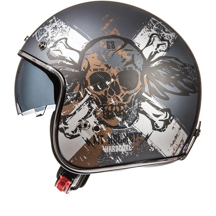 MT Le Mans SV Hardcore Open Face Motorcycle Helmet