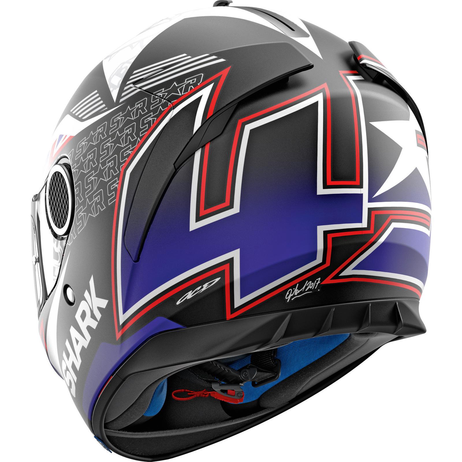 Details about Shark Spartan Redding Black Blue White Motorcycle Helmet KBW  Replica Motorbike