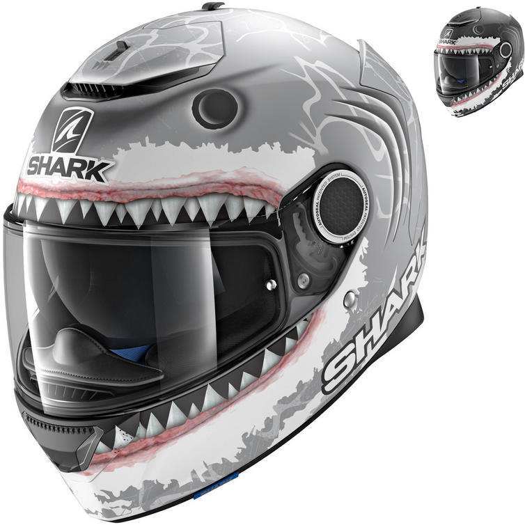 Shark Spartan Lorenzo White Shark Motorcycle Helmet