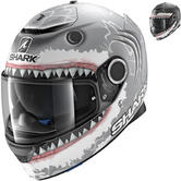 Shark Spartan Lorenzo White Shark Motorcycle Helmet