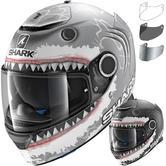 Shark Spartan Lorenzo White Shark Motorcycle Helmet & Visor