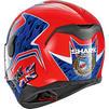 Shark D-Skwal Fogarty Motorcycle Helmet & Visor Thumbnail 8