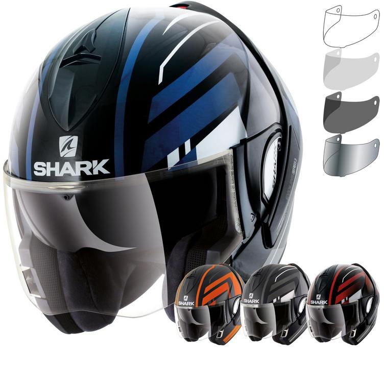 Shark Evoline S3 Corvus Flip Front Motorcycle Helmet & Visor