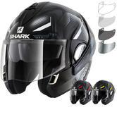 Shark Evoline S3 Shazer Flip Front Motorcycle Helmet & Visor