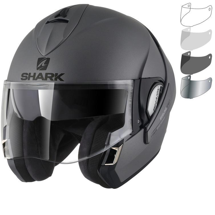 Shark Evoline S3 Blank Flip Front Motorcycle Helmet & Visor