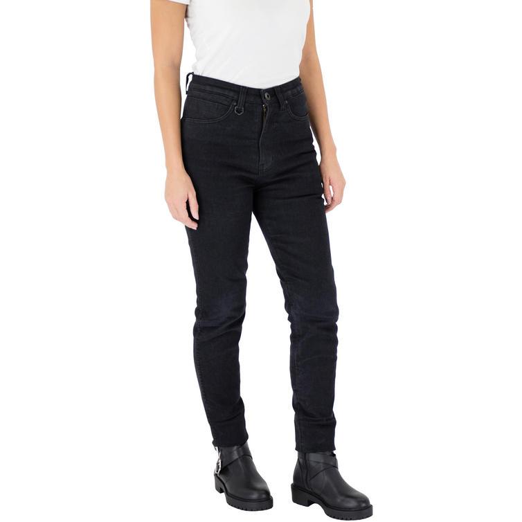 Knox Scarlett Skinny Fit Ladies Black Motorcycle Jeans