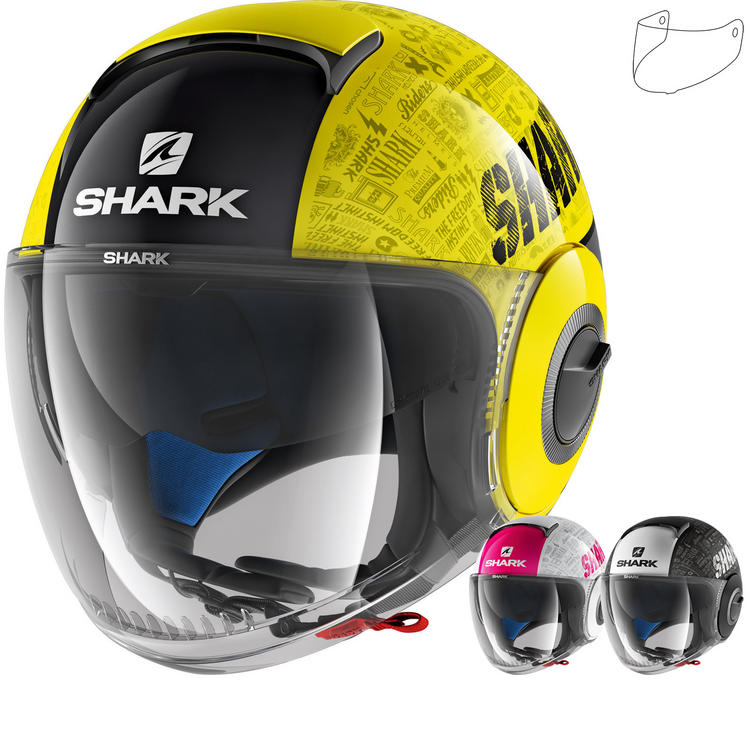 Shark Nano Tribute RM Open Face Motorcycle Helmet & Visor
