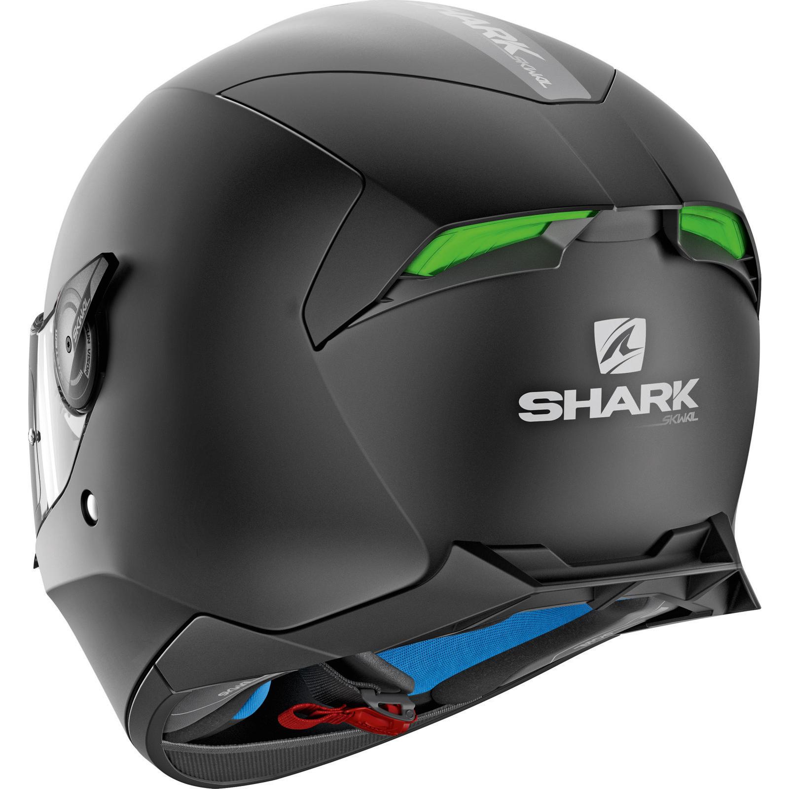 43c5881e Shark Skwal 2 Blank Solid Matt Black Motorcycle Helmet KMA Full Face ...