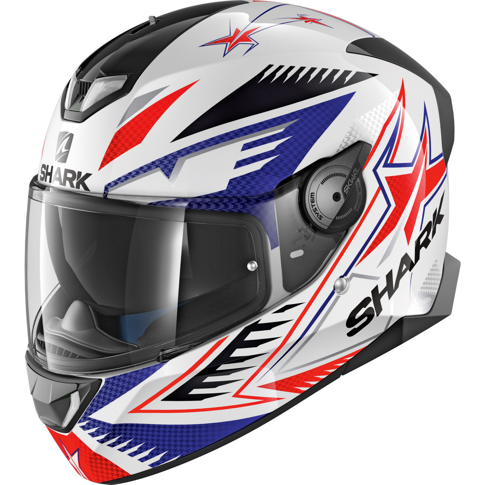 shark skwal 2 draghal white blue red motorcycle helmet wbr motorbike sun visor ebay. Black Bedroom Furniture Sets. Home Design Ideas