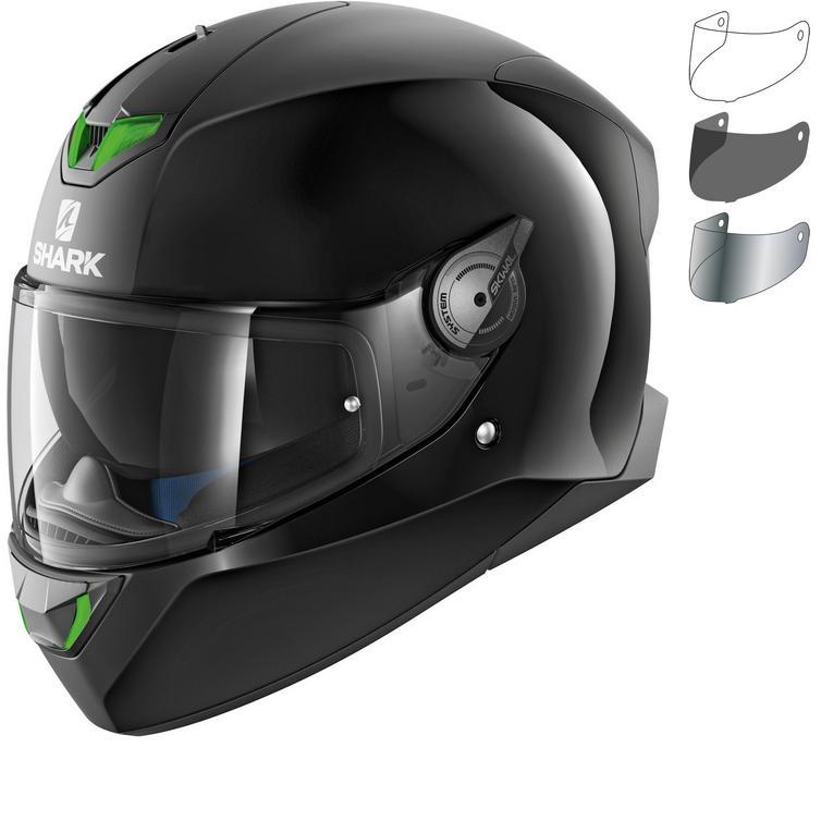 Shark Skwal 2 Dual Black Motorcycle Helmet & Visor