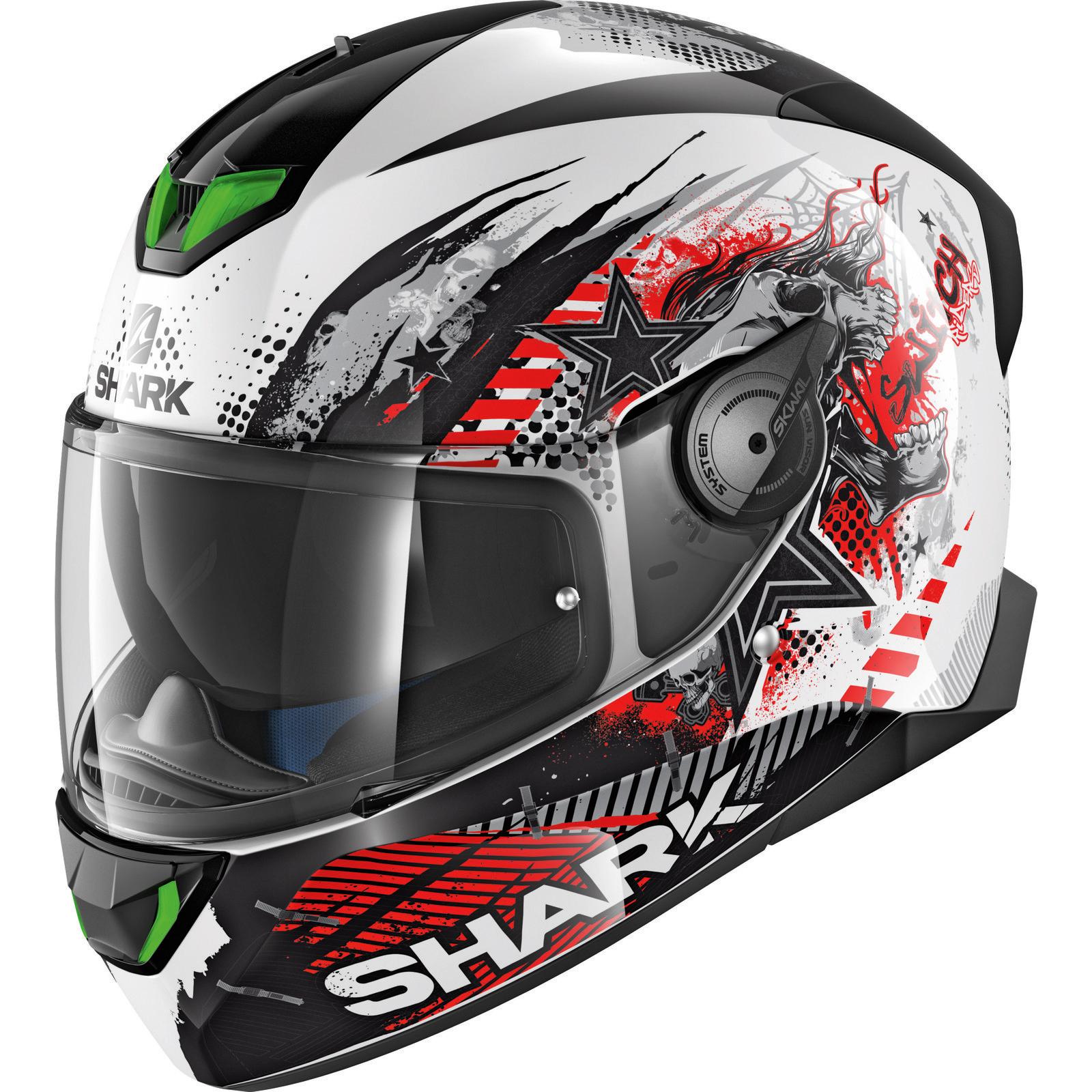dd4c0f3659 Shark Skwal 2 Switch Rider 1 Motorcycle Helmet   Visor LED Full Face ...