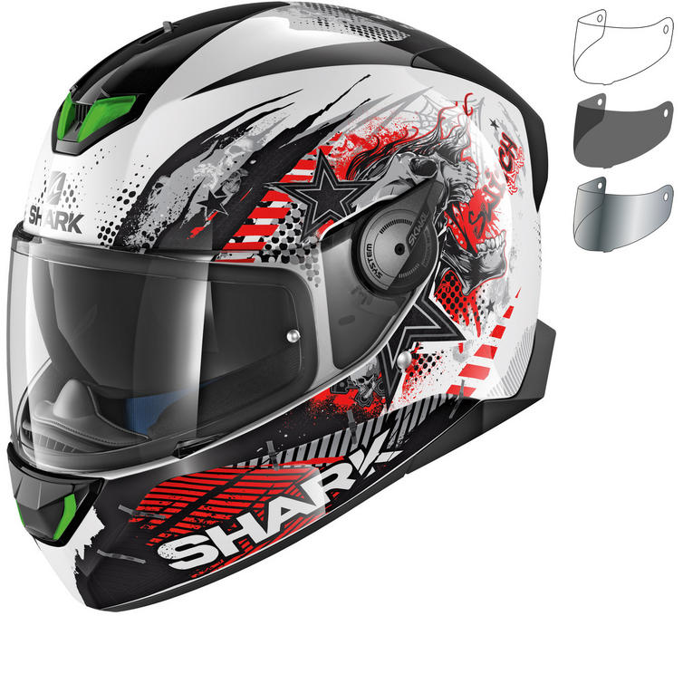Shark Skwal 2 Switch Rider 1 Motorcycle Helmet & Visor