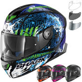 Shark Skwal 2 Switch Rider 2 Motorcycle Helmet & Visor