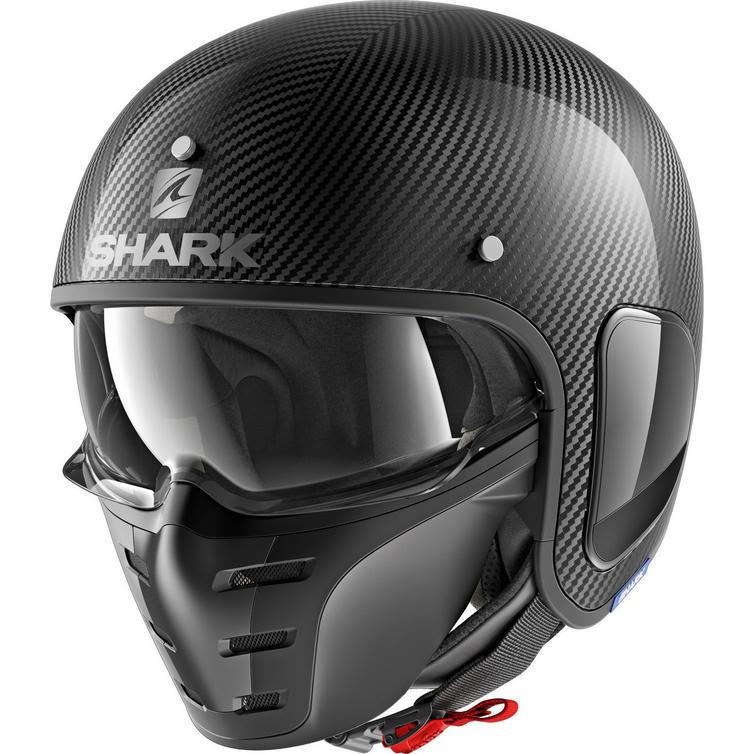 Shark S-Drak Carbon Skin Open Face Motorcycle Helmet