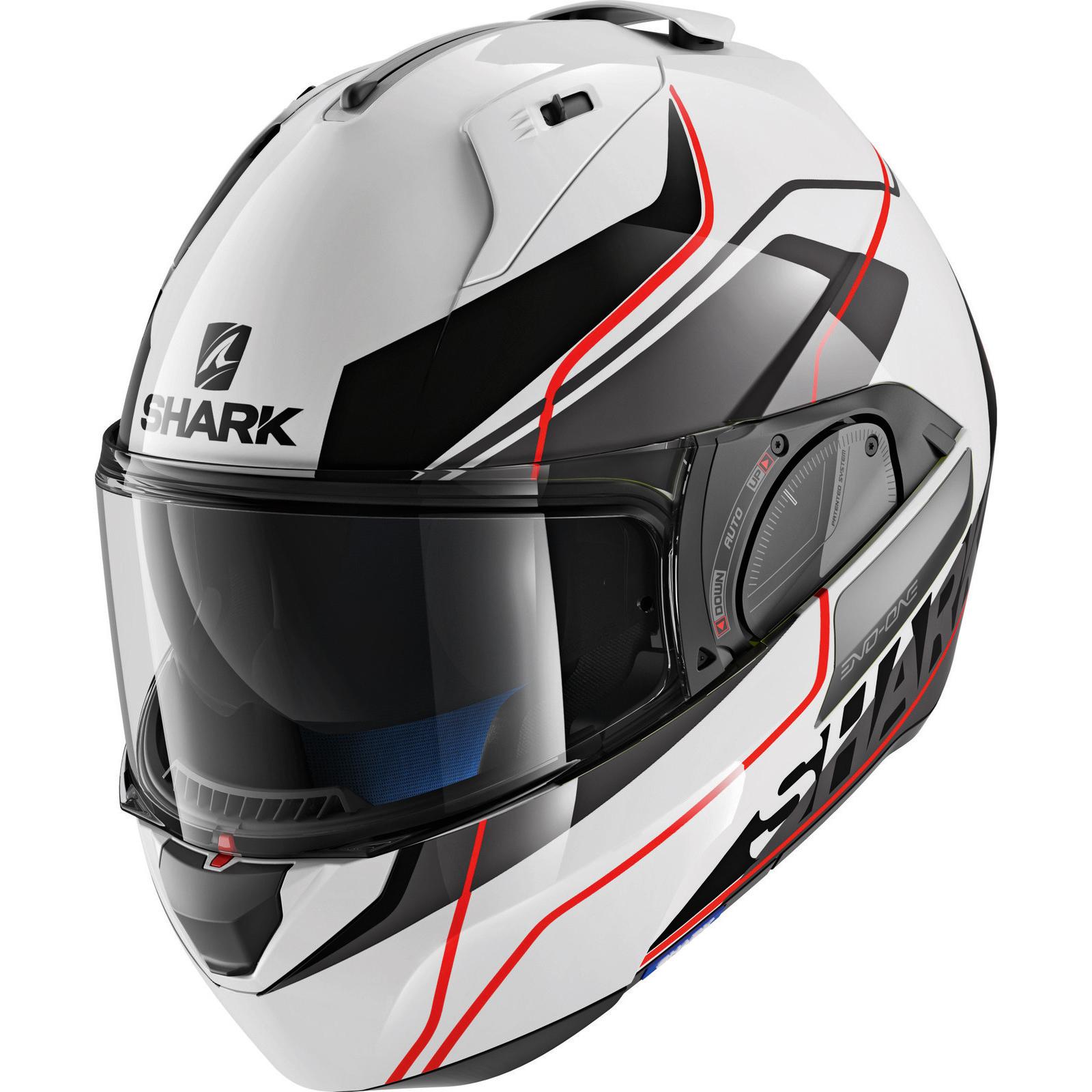shark evo one 2 krono white red flip front motorcycle. Black Bedroom Furniture Sets. Home Design Ideas