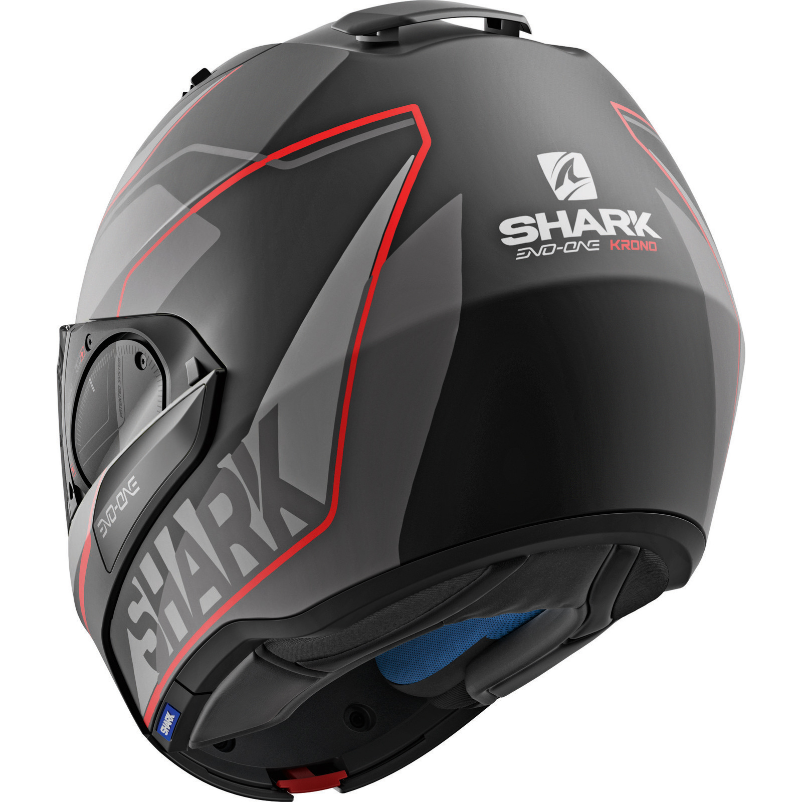 shark evo one 2 krono black anthracite red flip front motorcycle helmet kar lid ebay. Black Bedroom Furniture Sets. Home Design Ideas