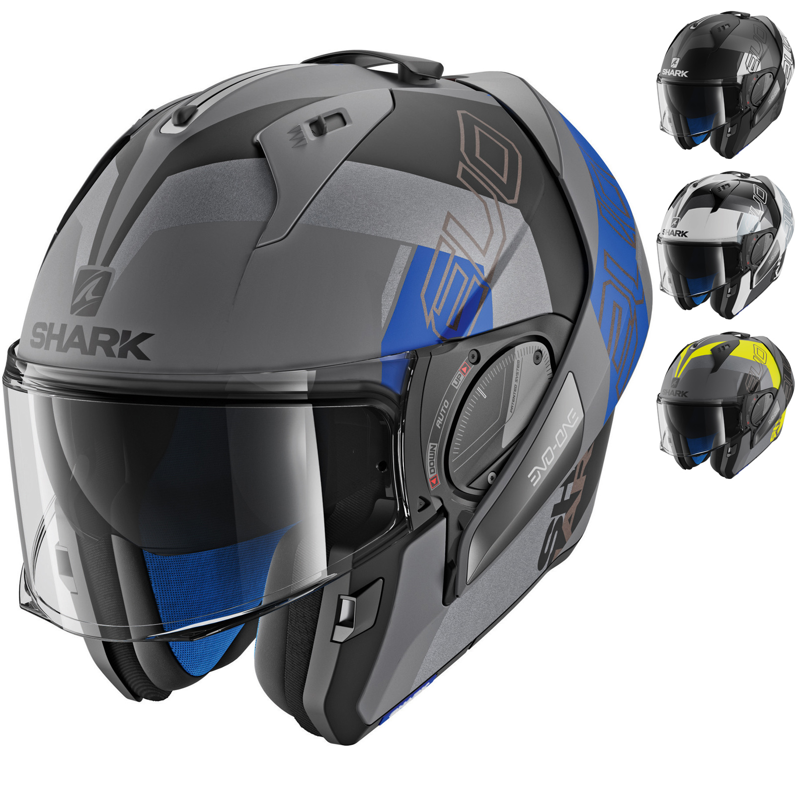 shark evo one 2 slasher flip front motorcycle helmet new arrivals. Black Bedroom Furniture Sets. Home Design Ideas