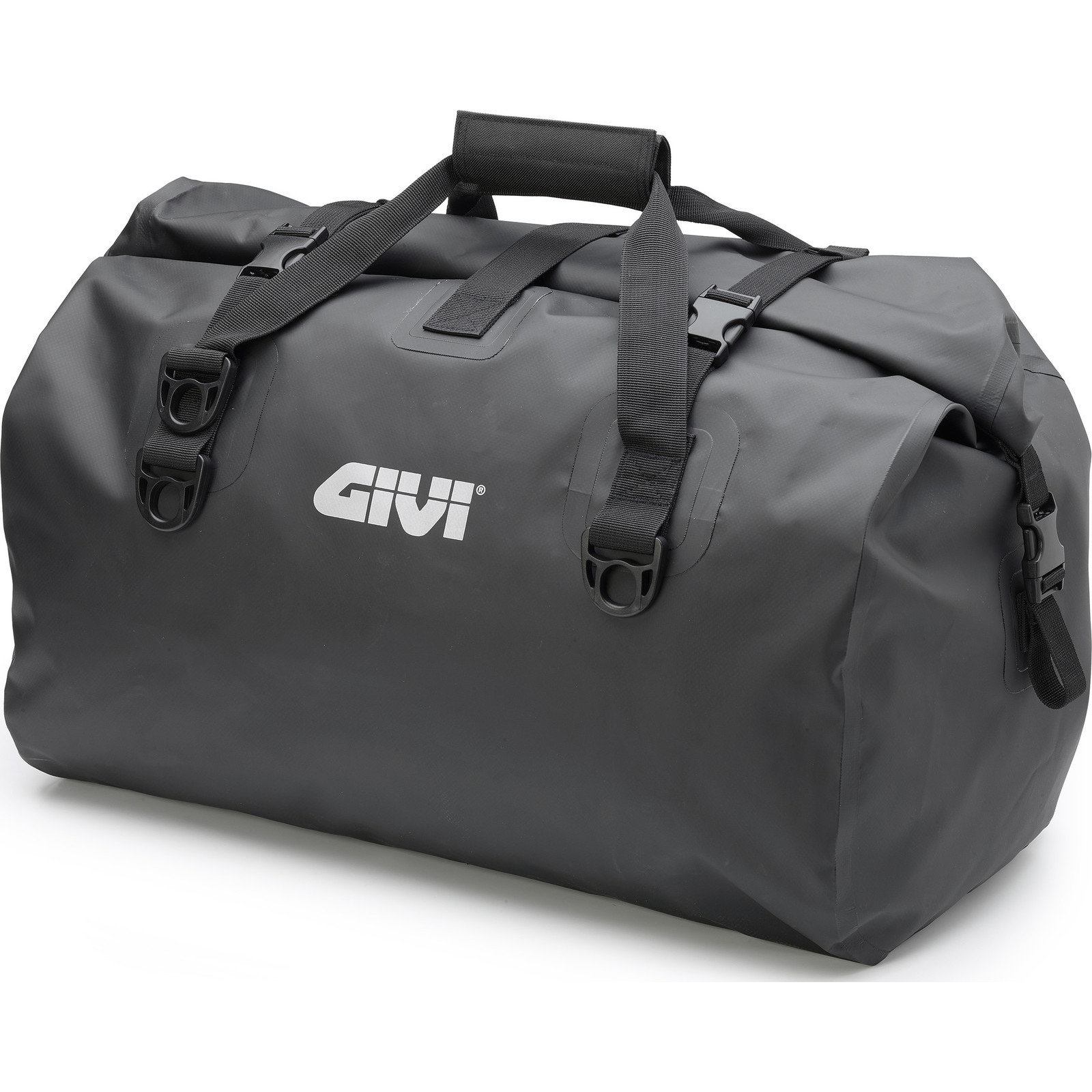 fe47b8ab8c8 Givi EA119BK Waterproof Seat Bag 60L Black Roll Top Motorbike Tail ...