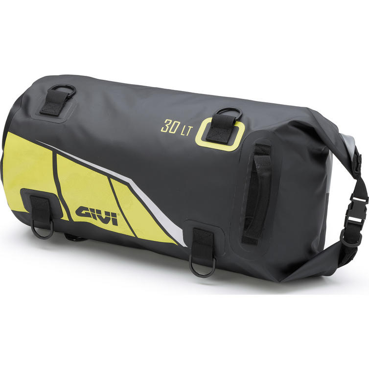 Givi Easy-T Range Waterproof Cylinder Seat Bag 30L Black Yellow (EA114BY)