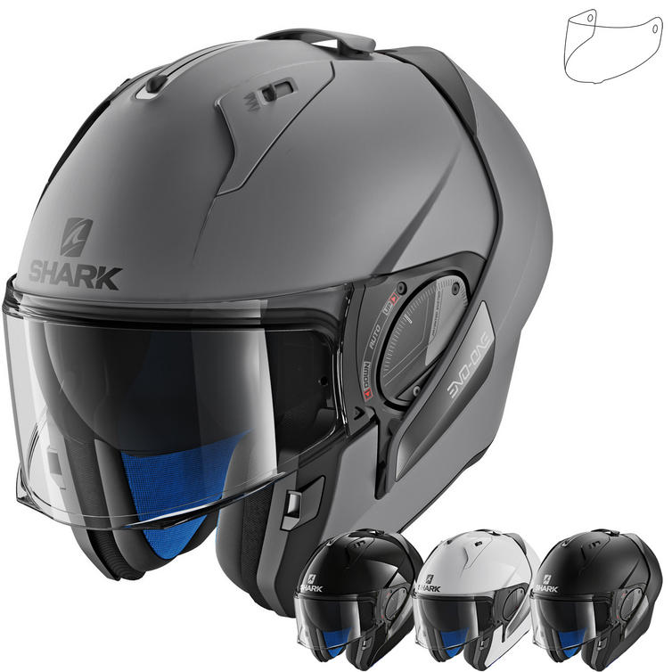 Shark Evo-One 2 Blank Flip Front Motorcycle Helmet & Visor