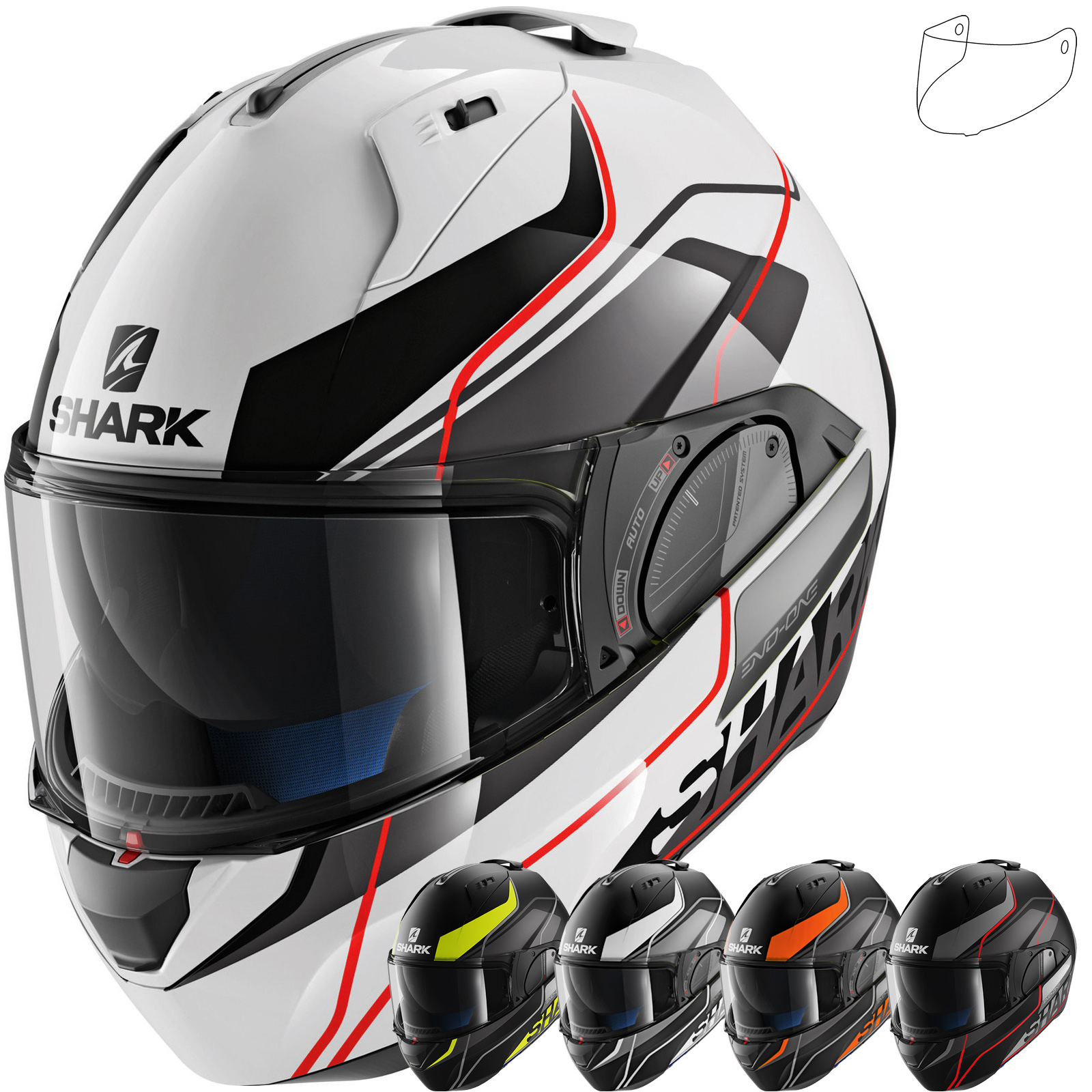 shark evo one 2 krono flip front motorcycle helmet visor new arrivals. Black Bedroom Furniture Sets. Home Design Ideas