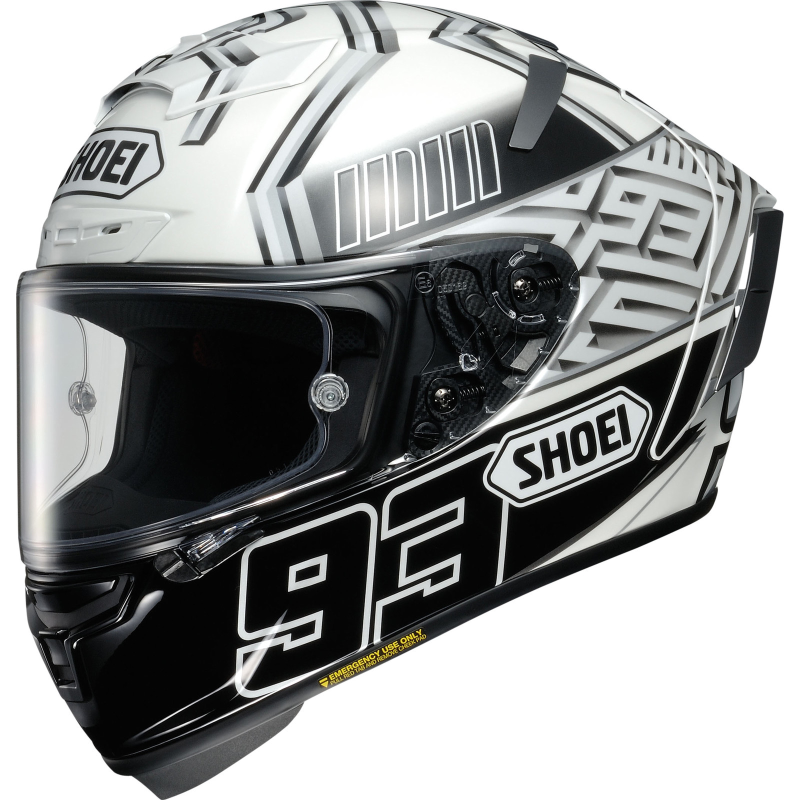 cd71c30e Details about Shoei X-Spirit 3 Marquez White Black Motorcycle Helmet TC-6  Motorbike Race Crash