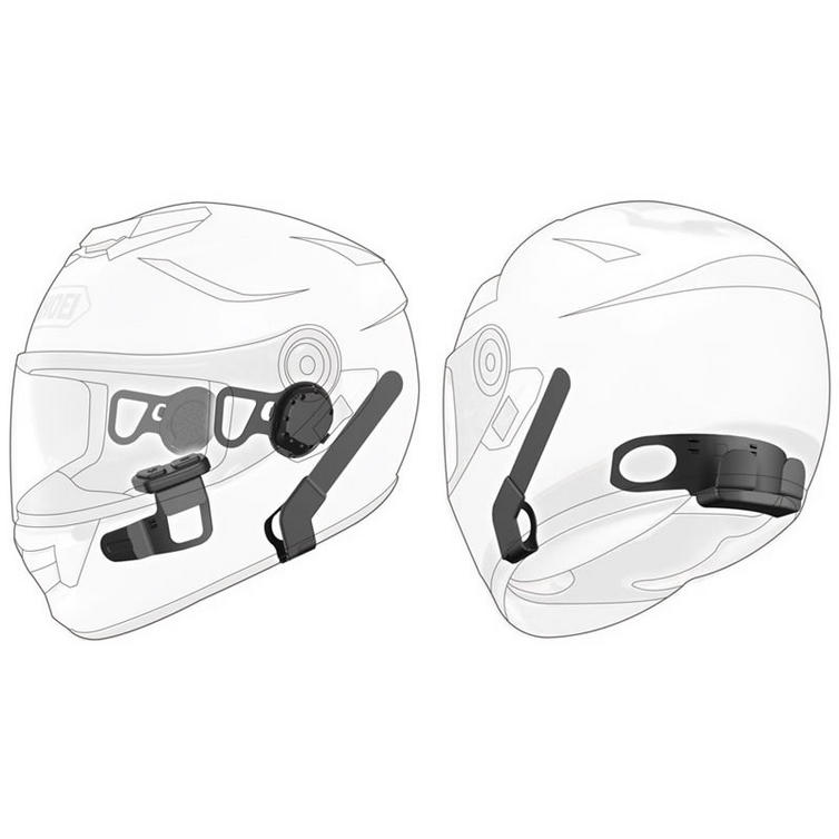 Sena Motorcycle Bluetooth Communication System with Handlebar Remote for Shoei Neotec