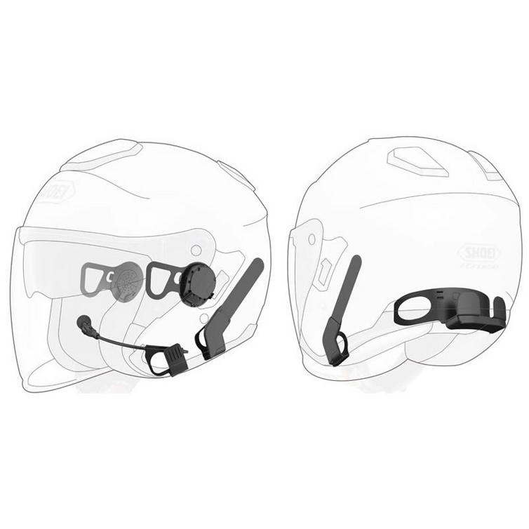 Sena Motorcycle Bluetooth Communication System with Handlebar Remote for Shoei J-Cruise