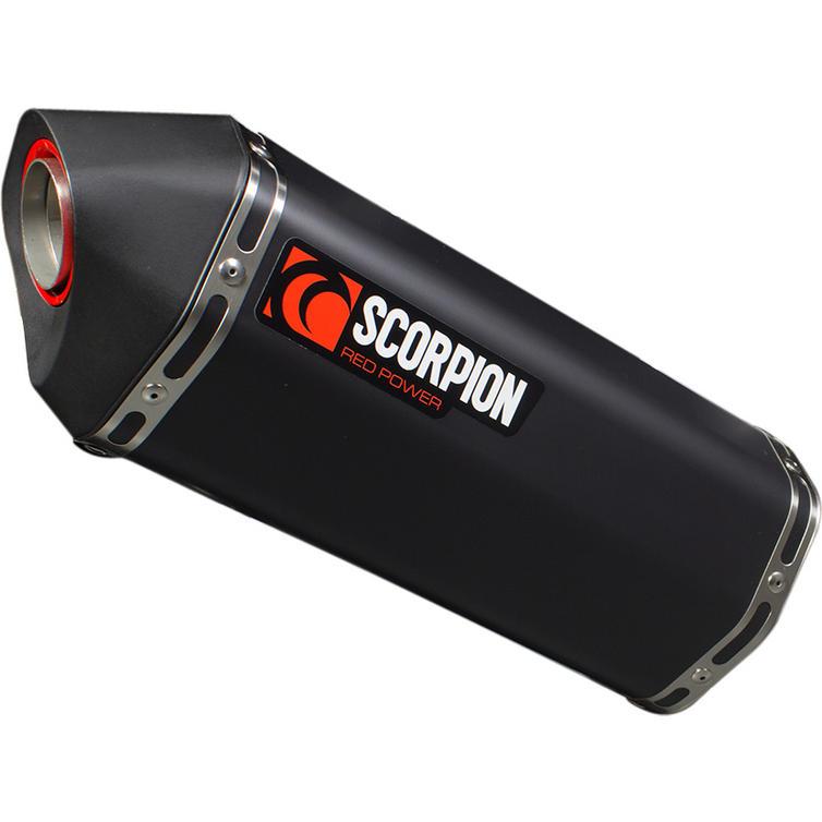 Scorpion Serket Parallel Black Ceramic Oval Exhaust - Vespa GTS GTV 125 250 300 SUPER Full System 09-17