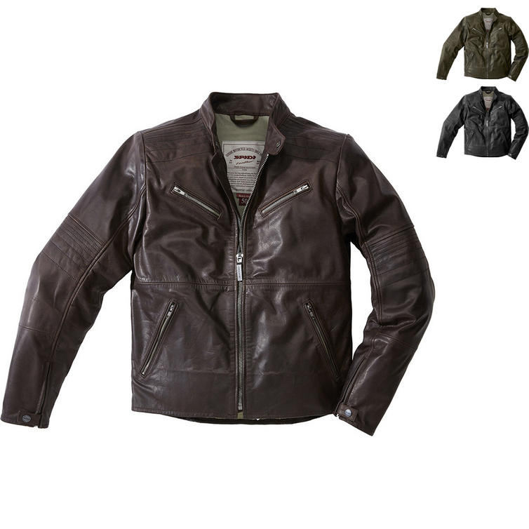 Spidi Garage Leather Motorcycle Jacket