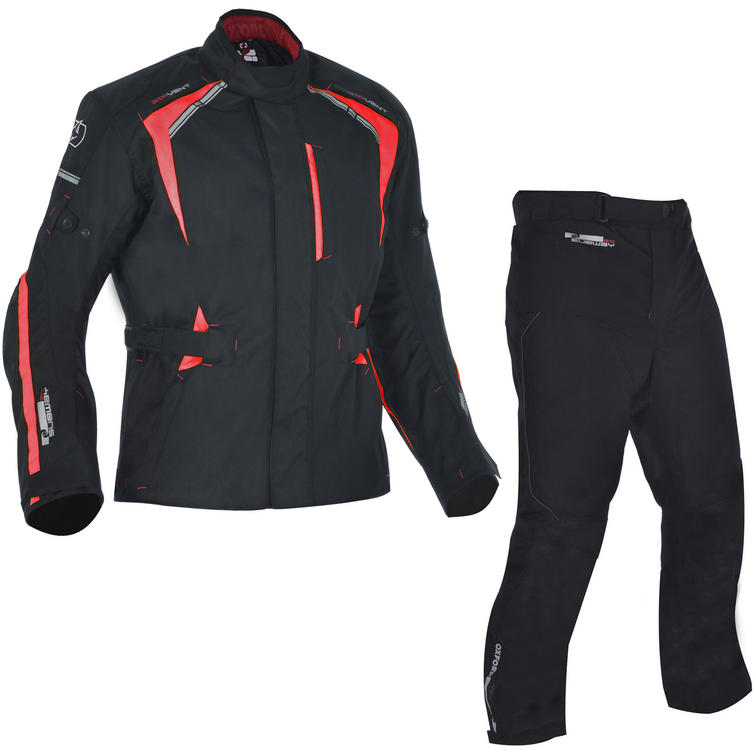 Oxford Subway 3.0 Motorcycle Jacket & Trousers Black Red Kit