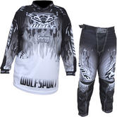 Wulf Firestorm Cub Motocross Jersey & Pants Black Kit