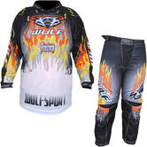 Wulf Firestorm Cub Motocross Jersey & Pants Orange Kit