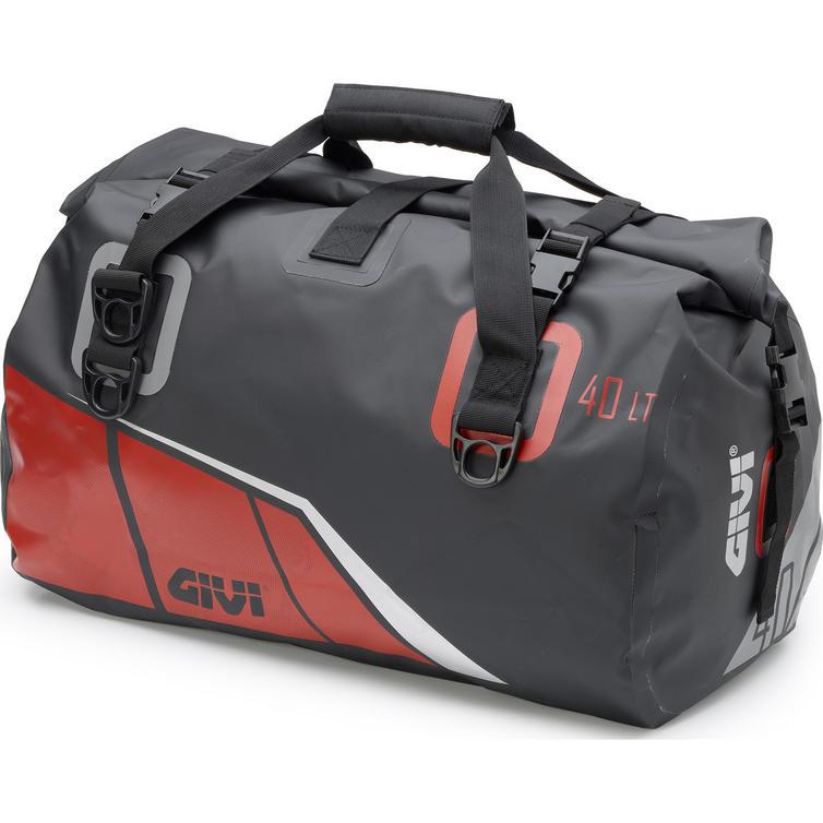 Givi Easy-T Range Waterproof Cylinder Seat Bag 40L Black Red (EA115BR)