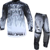 Wulf Firestorm Adult Motocross Jersey & Pants Black Kit