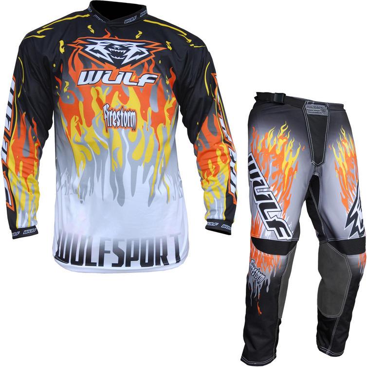 Wulf Firestorm Adult Motocross Jersey & Pants Orange Kit