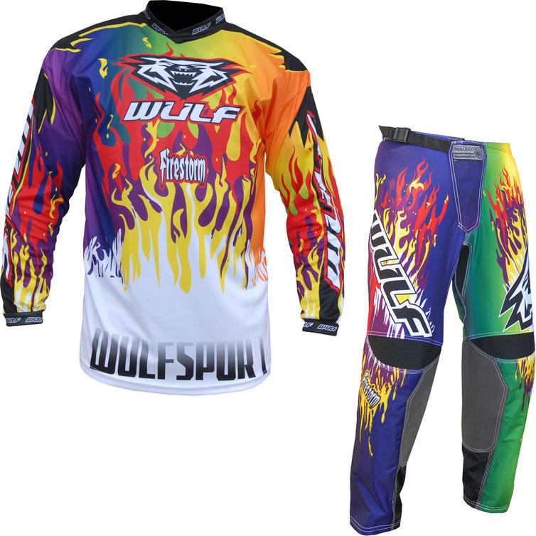 Wulf Firestorm Adult Motocross Jersey & Pants Multi Kit